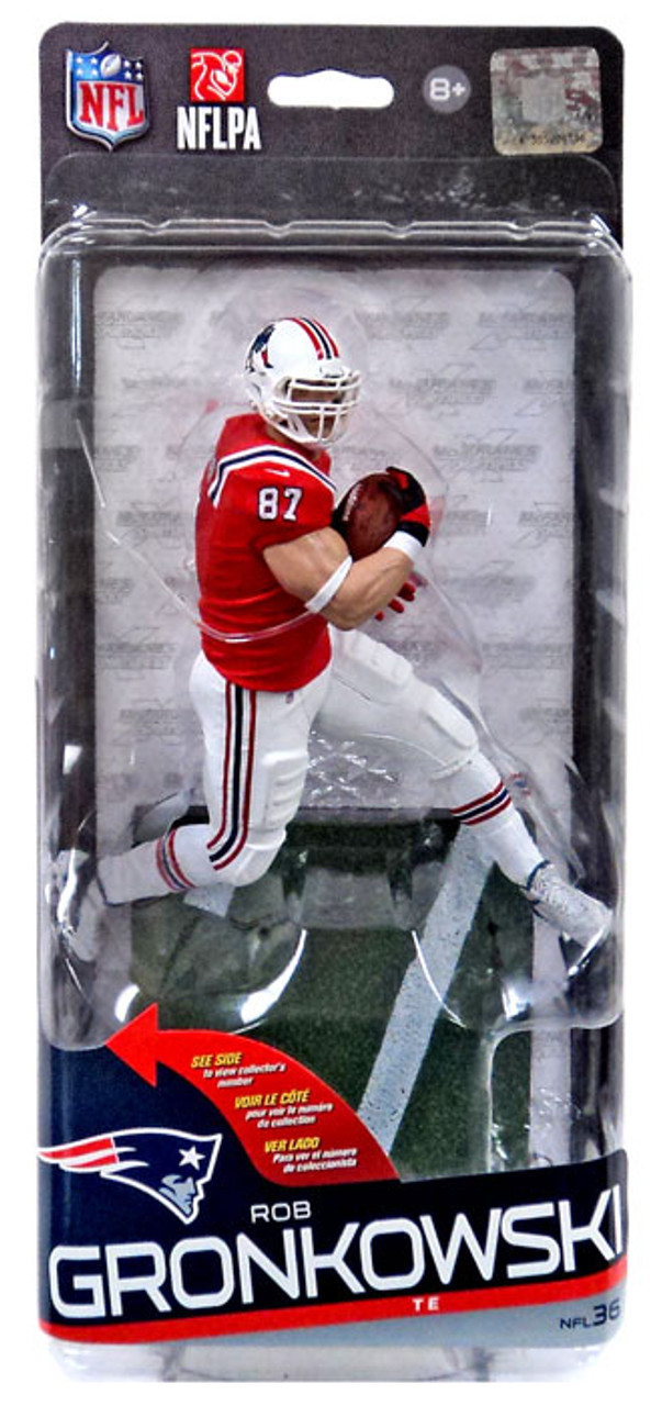 eea1db810 McFarlane Toys NFL New England Patriots Sports Picks Series 36 Rob  Gronkowski Action Figure Red Jersey