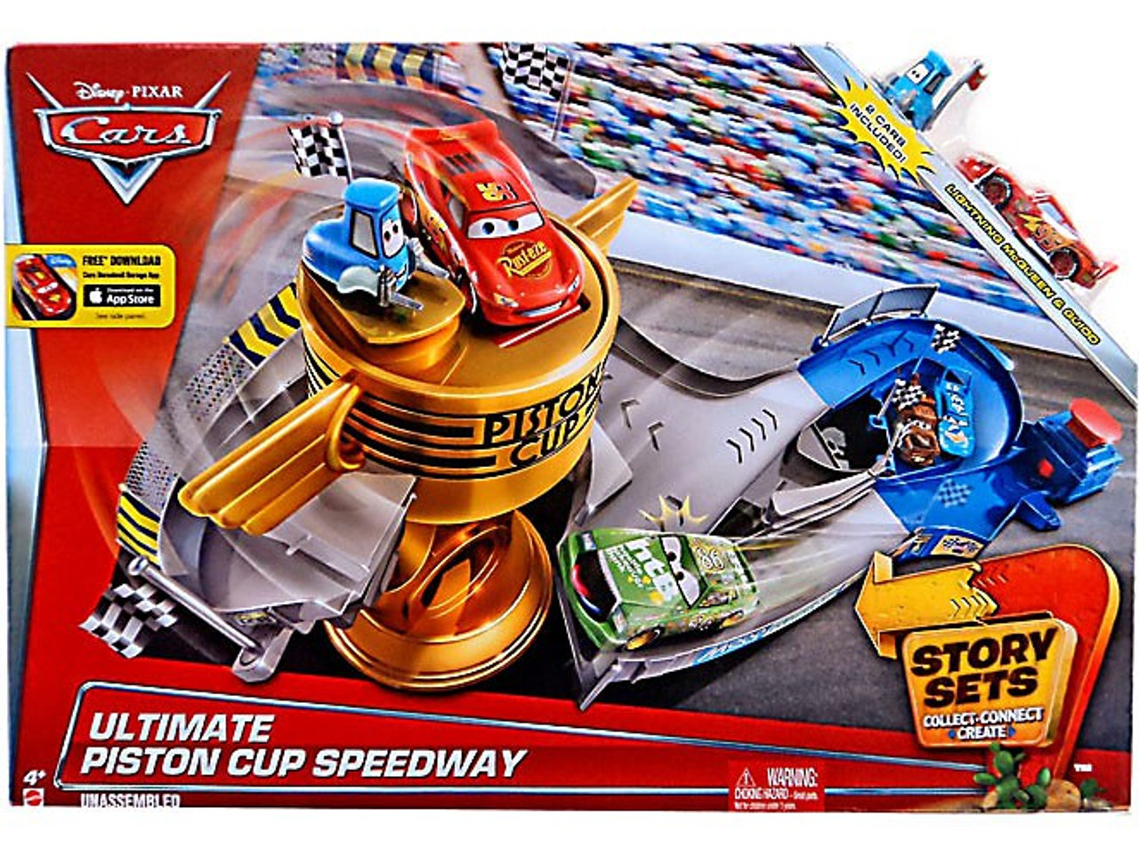 Cars Sets Ultimate Playset Disney Cup Exclusive Pixar Speedway Story Piston QhCtrds