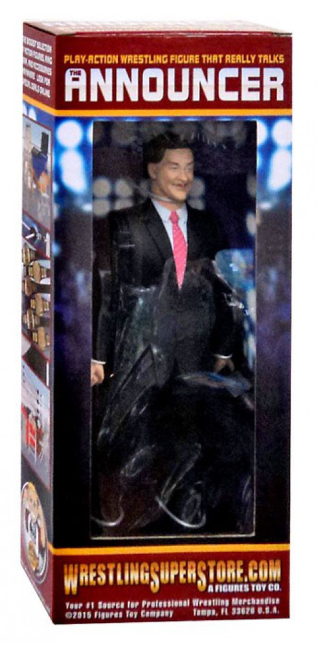 Black Commentator Table Playset for WWE Wrestling Action Figures Figures Toy Company