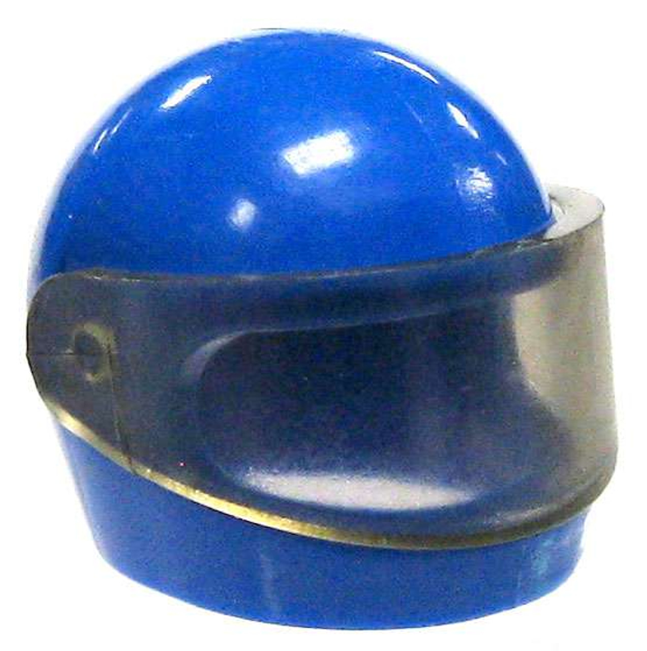 ac298350 LEGO Headgear Blue Motorcycle Helmet with Dark Transparent Visor Loose -  ToyWiz