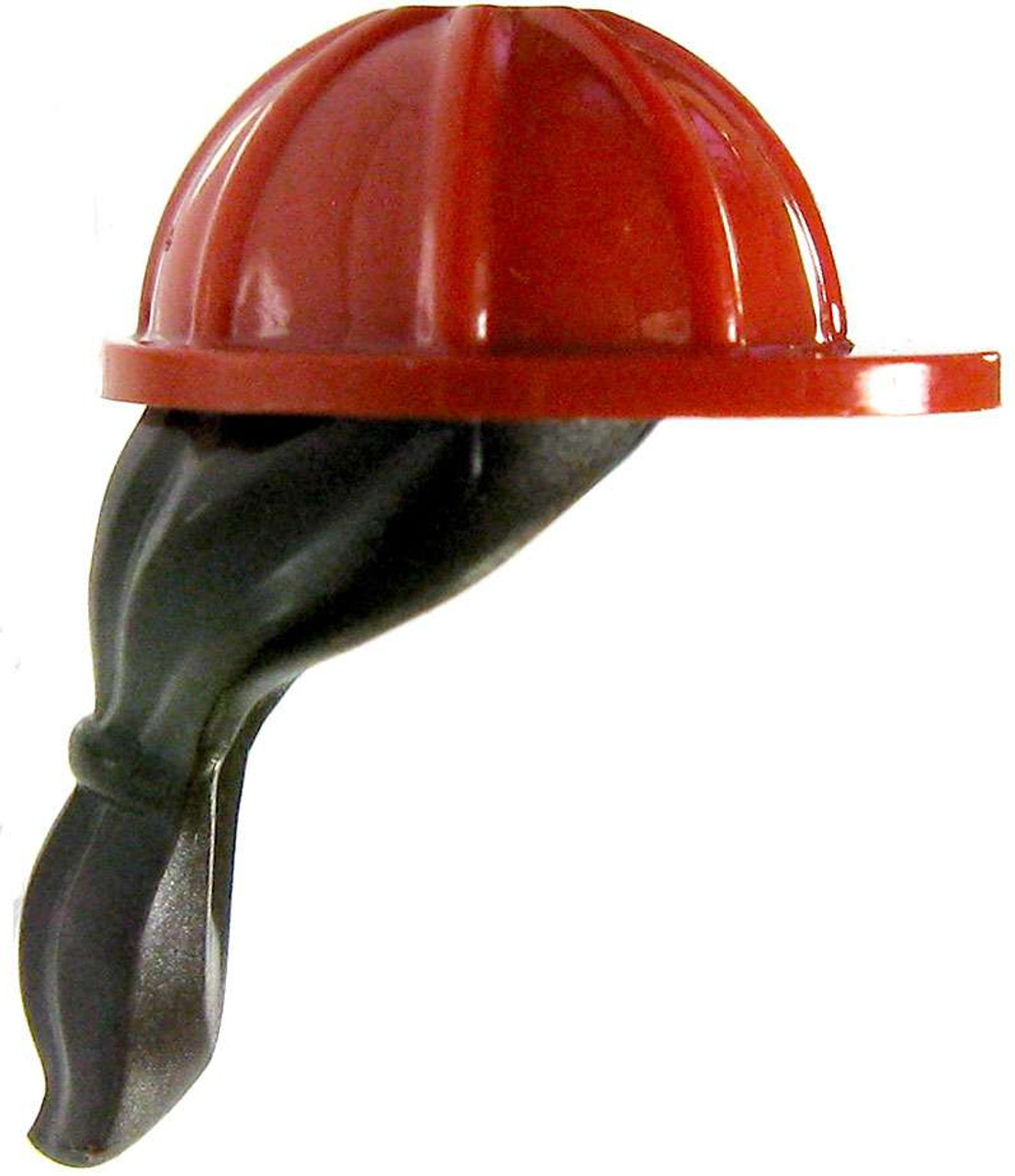 LEGO LEGO Minifigure Parts Red Hard Hat with Brown Ponytail Loose - ToyWiz b63b9038d4f1