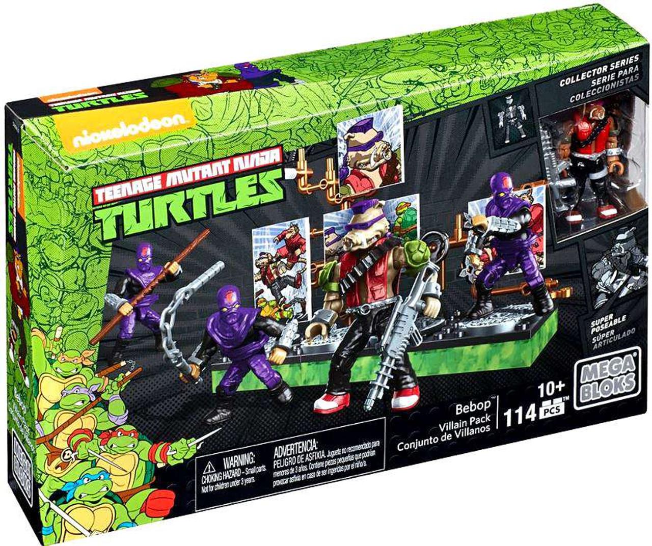 Teenage Mutant Ninja Turtles Mega Bloks Rocksteady Villian /& Bebop 2 to Choose