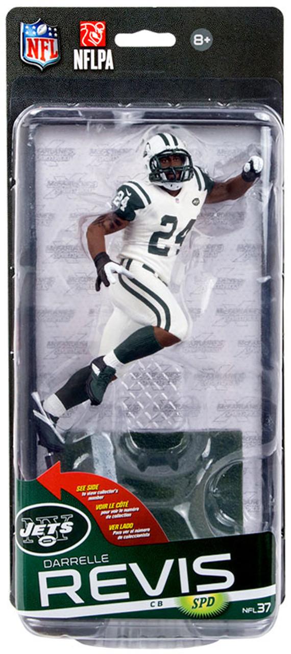 fb0757b99d05 McFarlane Toys NFL New York Jets Sports Picks Series 37 Darrelle Revis  Action Figure White Jersey - ToyWiz
