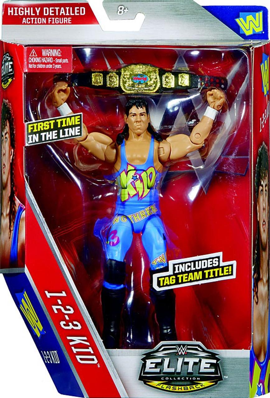 WWE Wrestling Elite Series 41 123 Kid Action Figure Tag Team Title