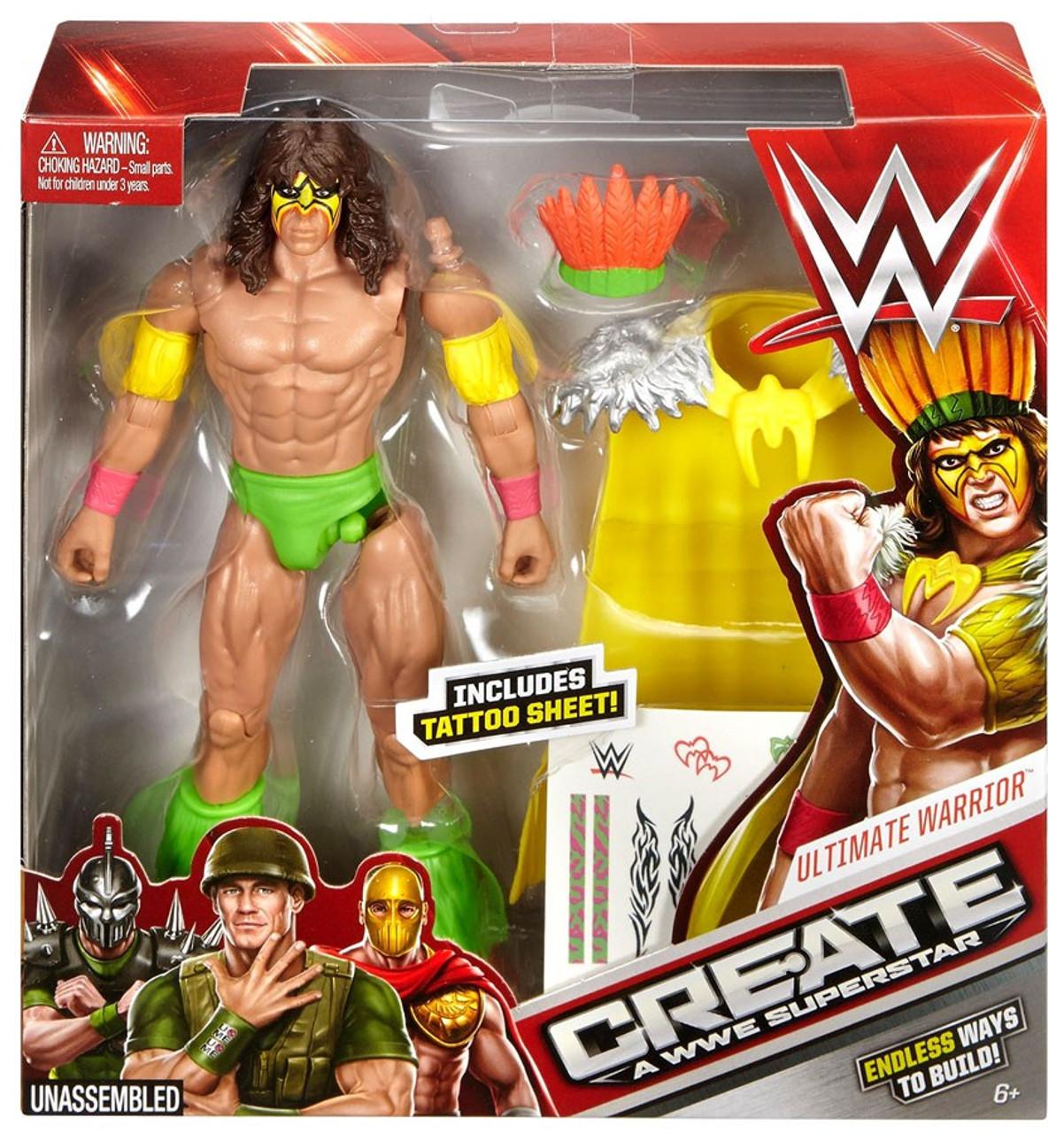 WWE Wrestling Retro Ultimate Warrior Action Figure