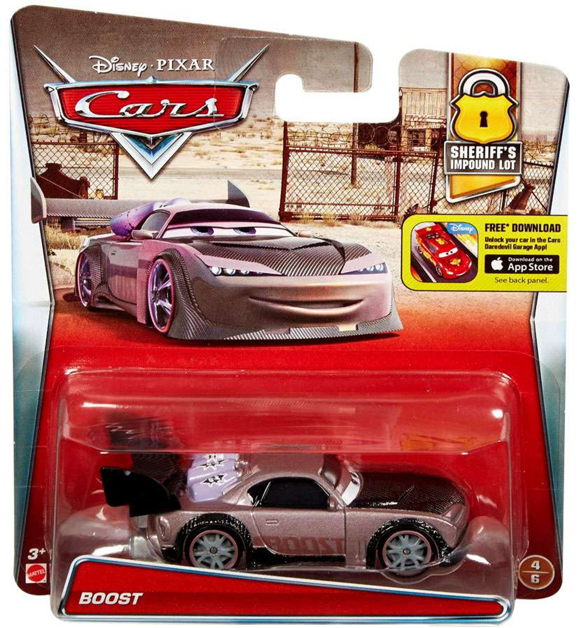 Disney / Pixar Cars Sheriff's Impound Lot Boost Diecast Car #4/6