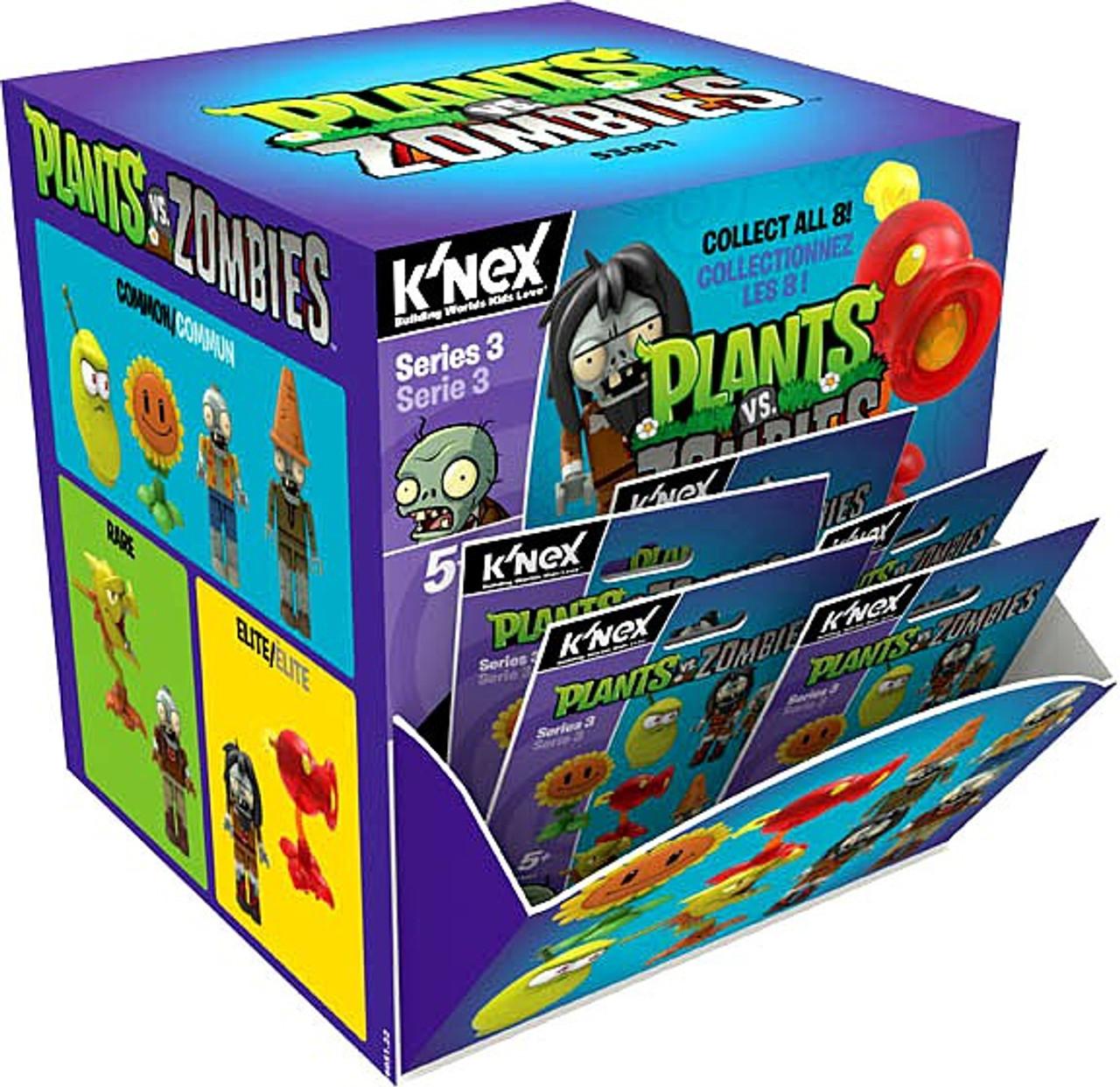 KNEX Zombies VS Plants Series 1 Complete set of 8 Figure w// Cone Head Zombie NEW