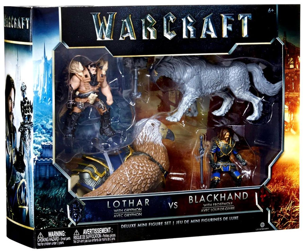 Warcraft Lothar avec Gryphon VS noire avec givre Deluxe Mini Figure Set