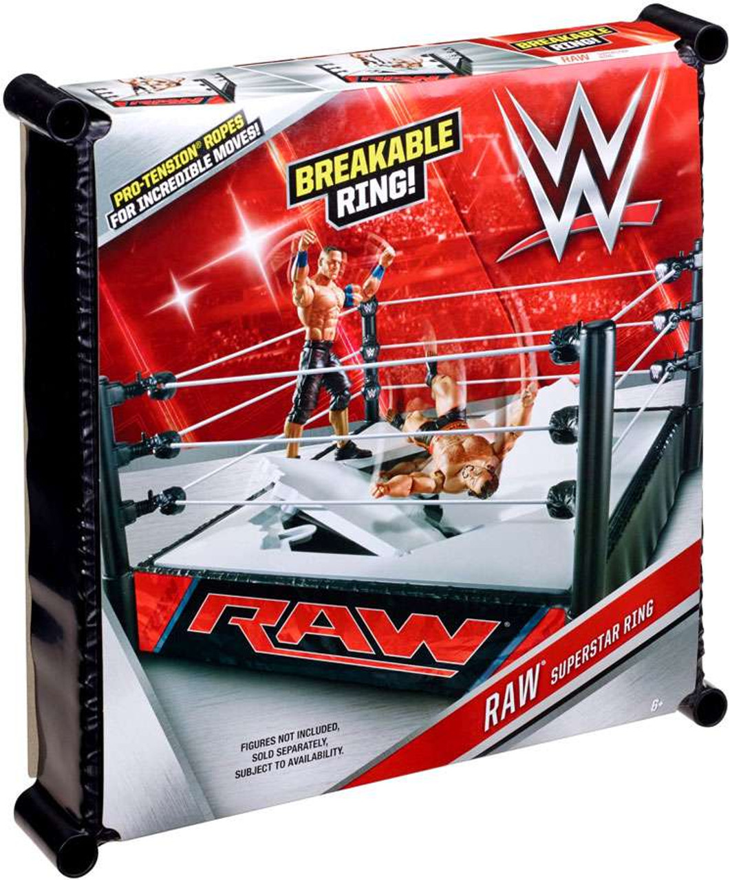 Breakable WWE Wrestling Smackdown Superstar Ring
