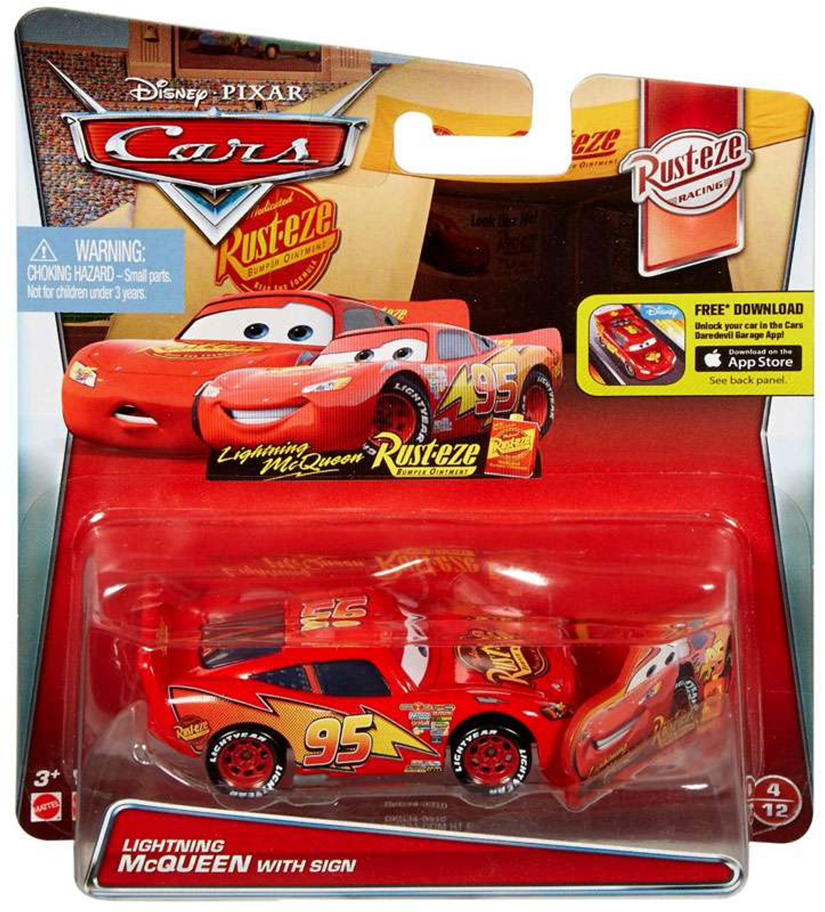 Disney Pixar Cars Rust Eze Racing Lightning Mcqueen With Sign 155