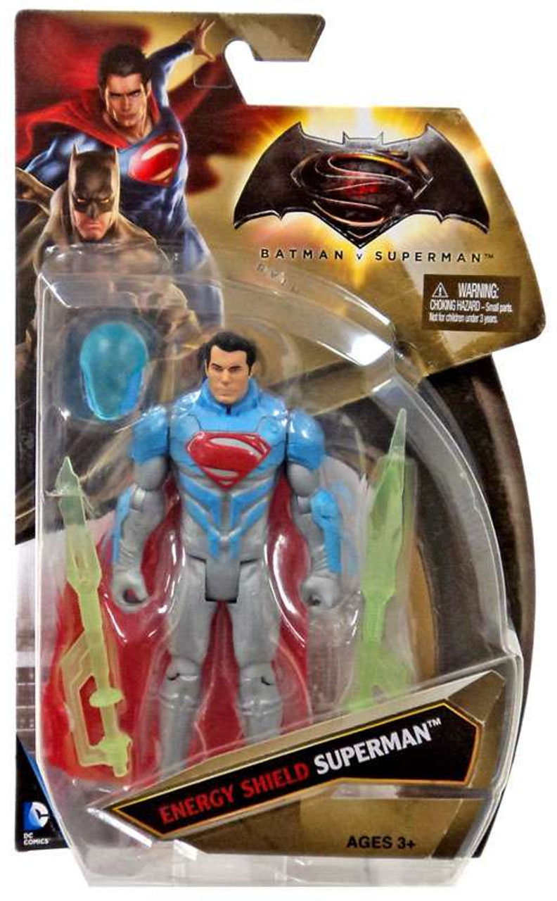 "NEW Mattel DC Comics Dawn of Justice ENERGY SHIELD BATMAN 6/"" Action Figure Toy"