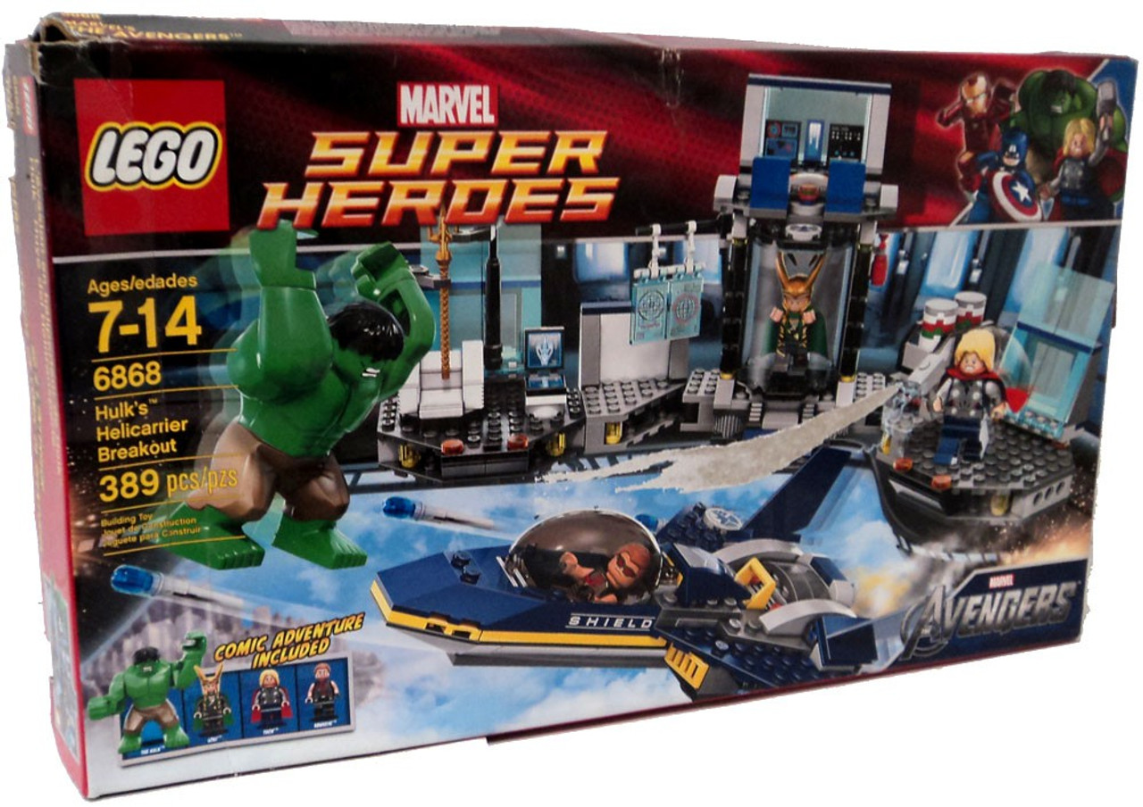 hot sale online 0aed4 7e8bc LEGO Marvel Super Heroes Avengers Hulks Helicarrier Breakout Set 6868  Damaged Package - ToyWiz