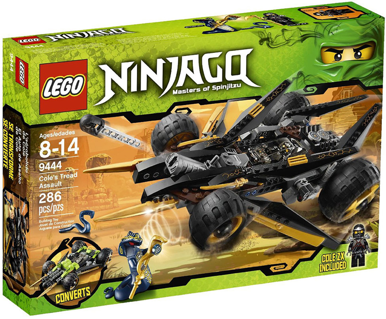 lego ninjago coles tread assault set 9444 damaged package. Black Bedroom Furniture Sets. Home Design Ideas