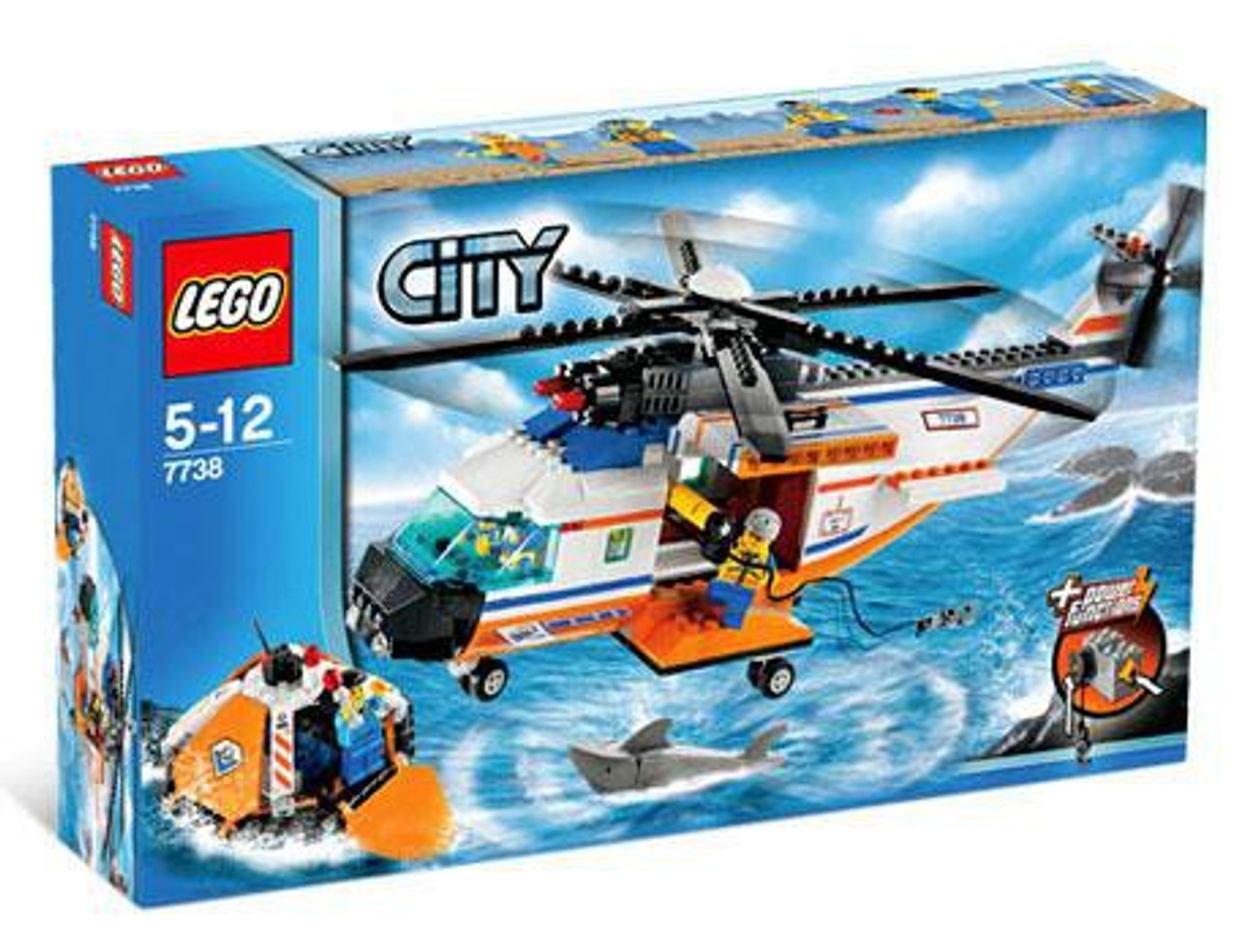 LEGO City Coast Guard Helicopter Life Raft Set 7738 - ToyWiz