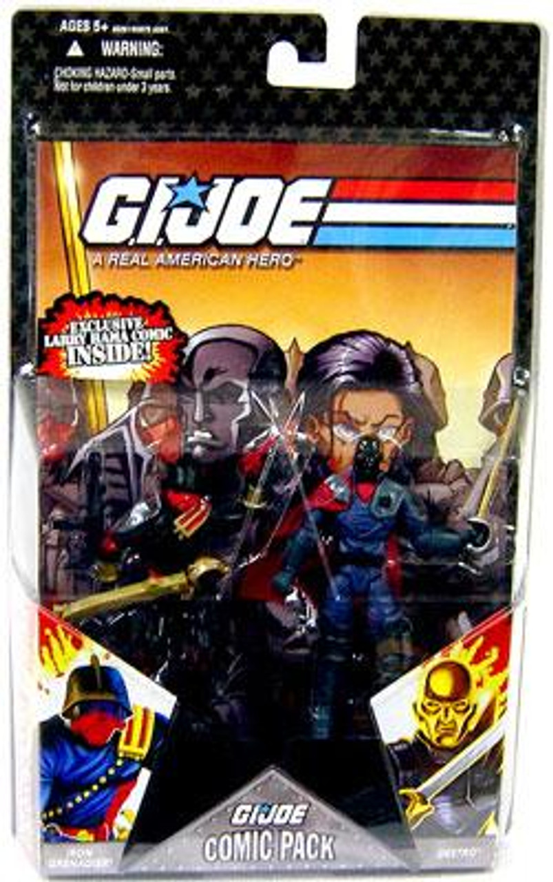 "3.75/"" Gi Joe blue viper guard  with Accessories Rare Action Figure"