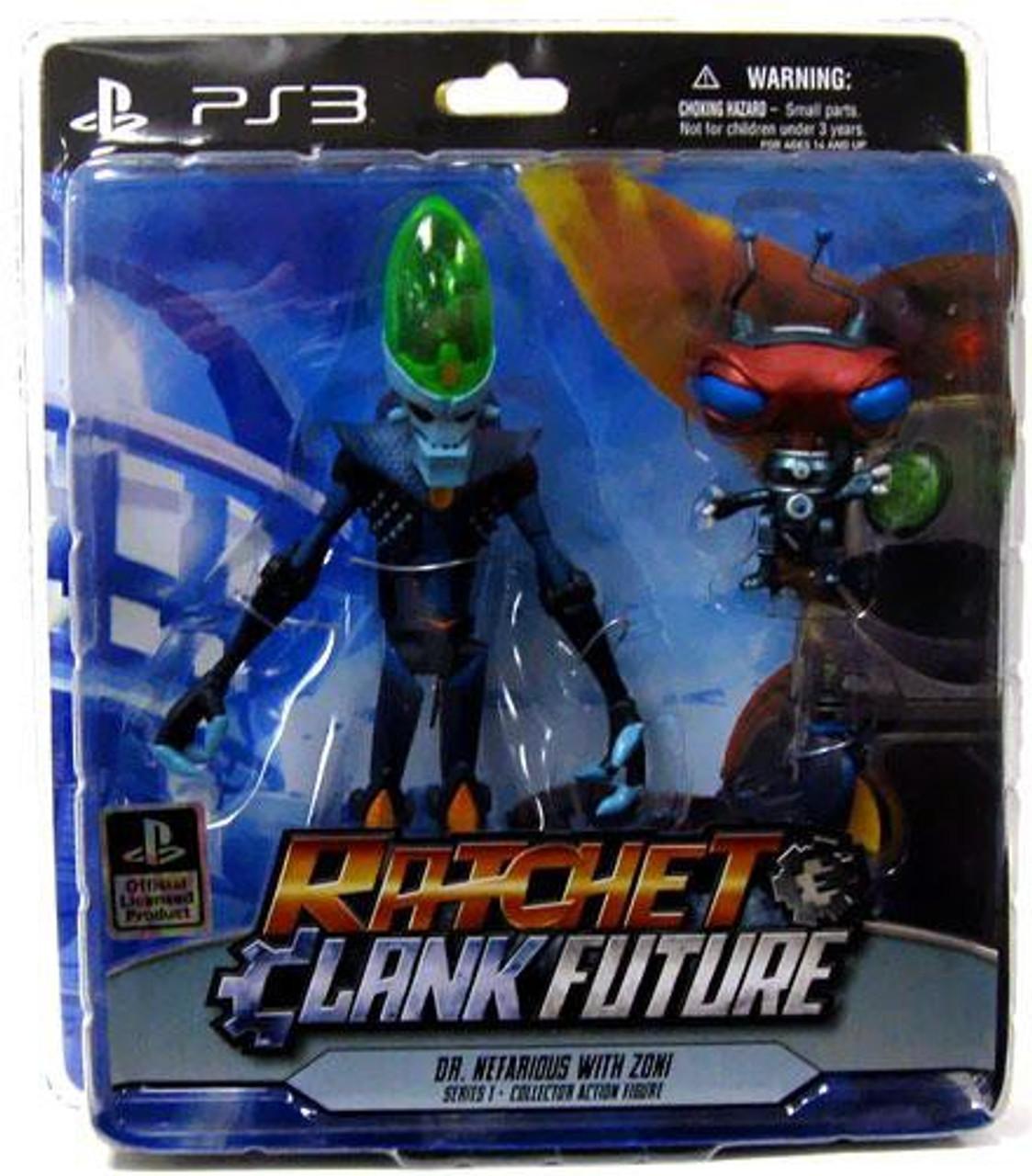 Ratchet /& Clank Future Dr Nefarious Captain Qwark Action Figure Toys Collection