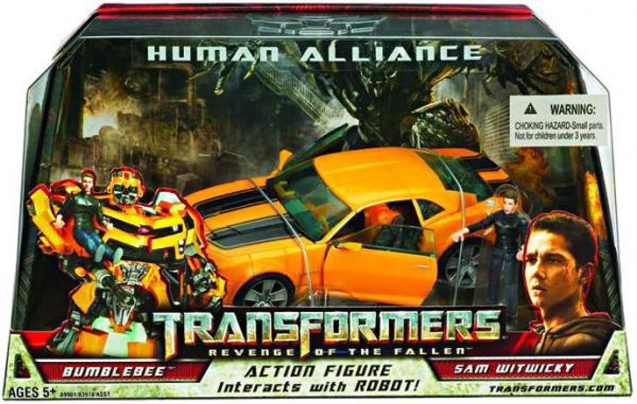 "Human Alliance Revenge of the Fallen 7/"" Bumblebee Sam Autobot Figure Toy New"
