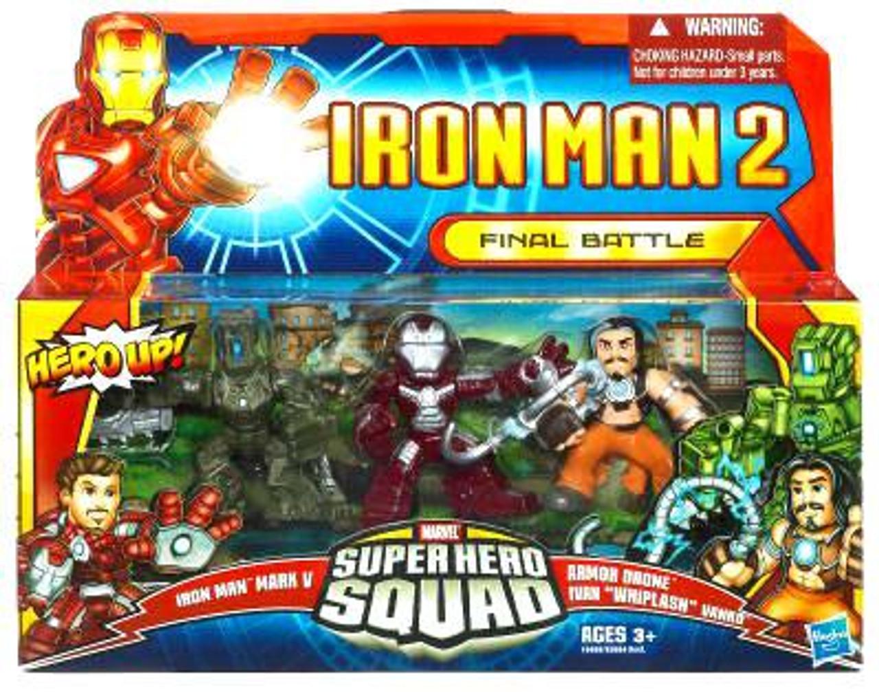 Marvel Super Hero Squad Armor Drone Tronçonneuse de Iron Man Final Battle Pack