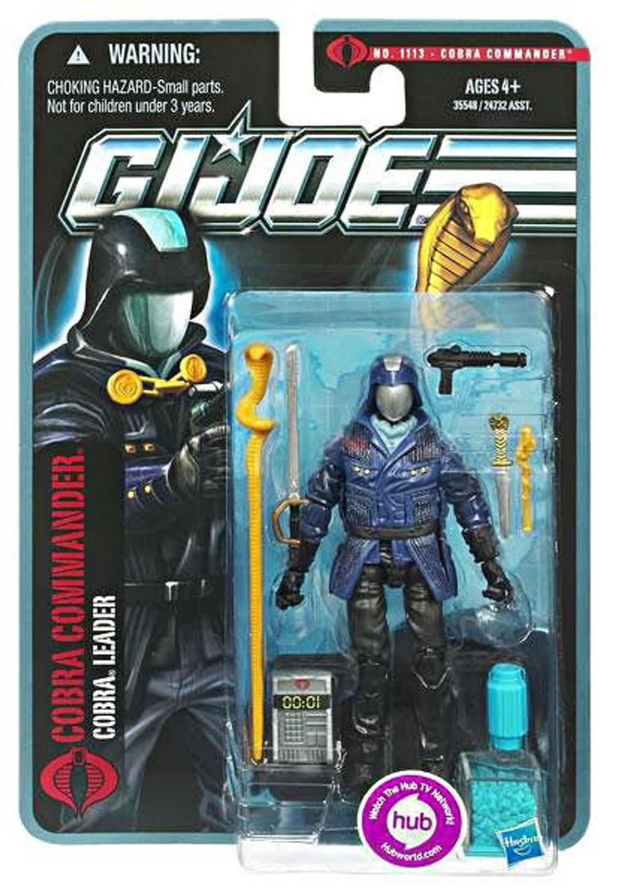 Joe Cobra Commander Cobra Leader Figure Hasbro with Weapons Accessories G.I