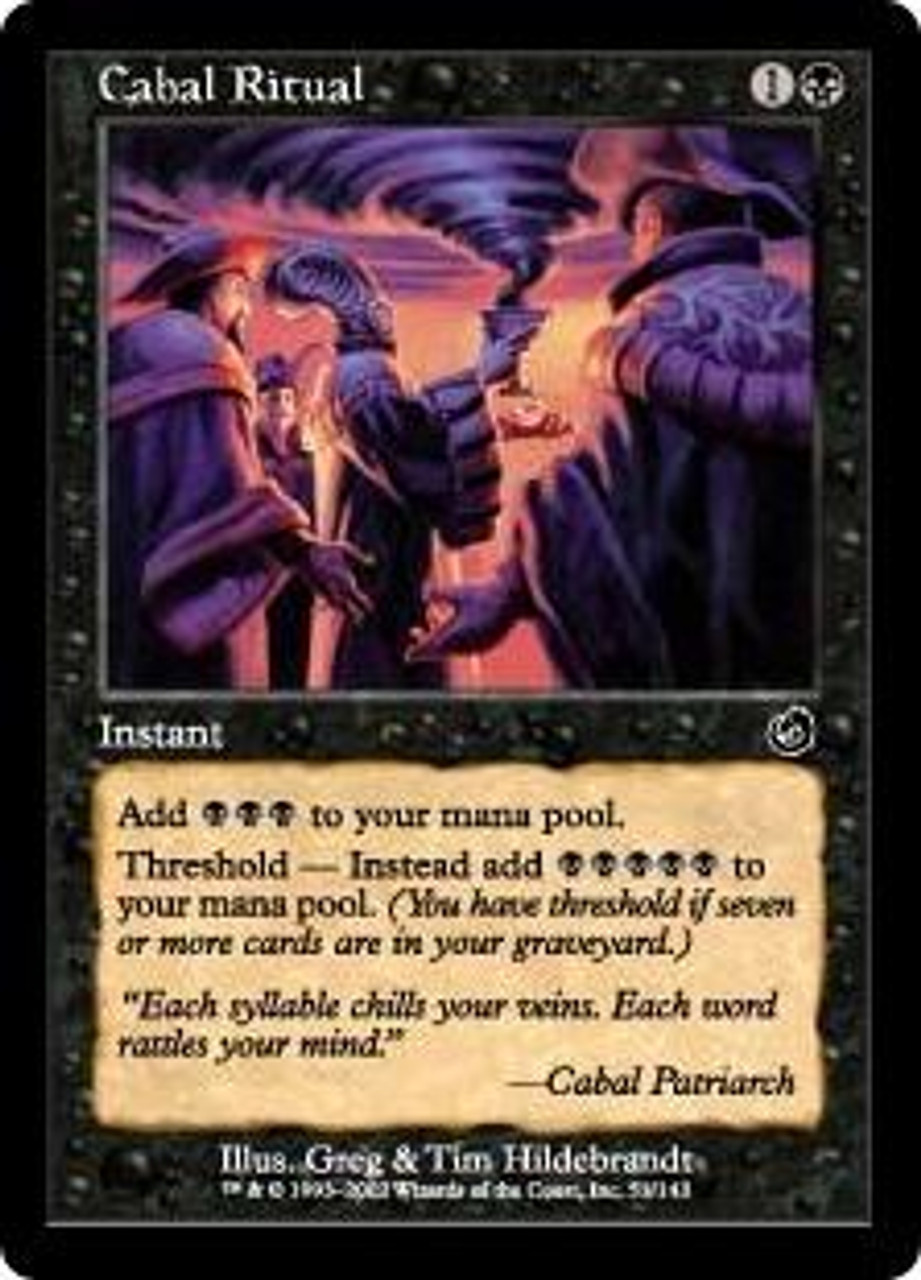 English 1 x MTG Cabal Ritual Torment Hero Deal
