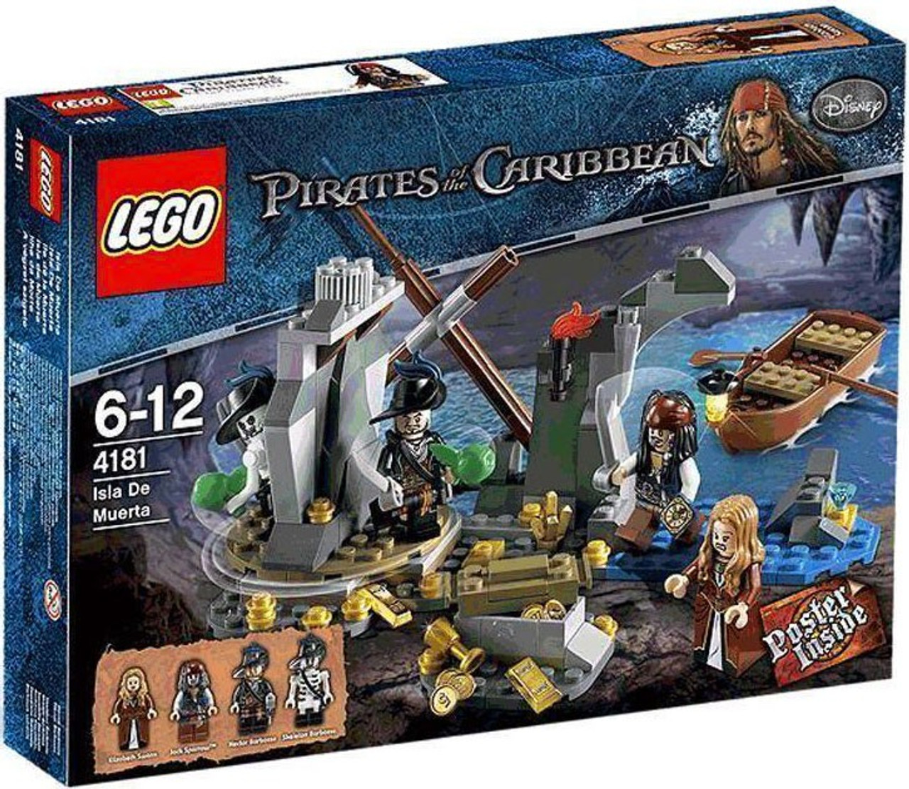 Lego Pirates Of The Caribbean Isla De Muerta Set 4181 Toywiz