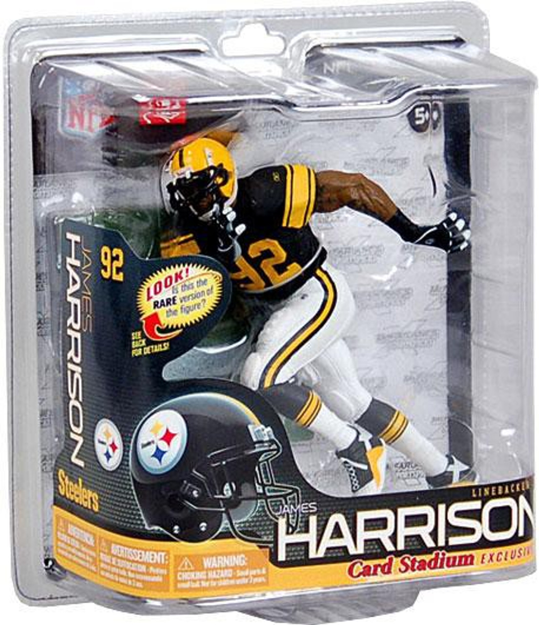 buy popular f077e bfe65 McFarlane Toys NFL Pittsburgh Steelers Sports Picks Series 26 James  Harrison Exclusive Action Figure [Retro Throwback]