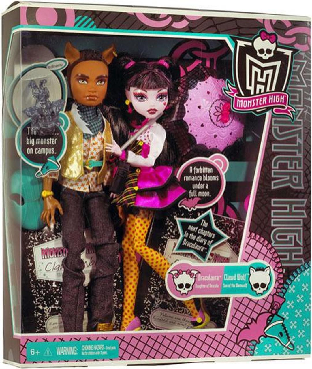 Monster High Draculaura Clawd Wolf 10.5 Doll 2-Pack Mattel