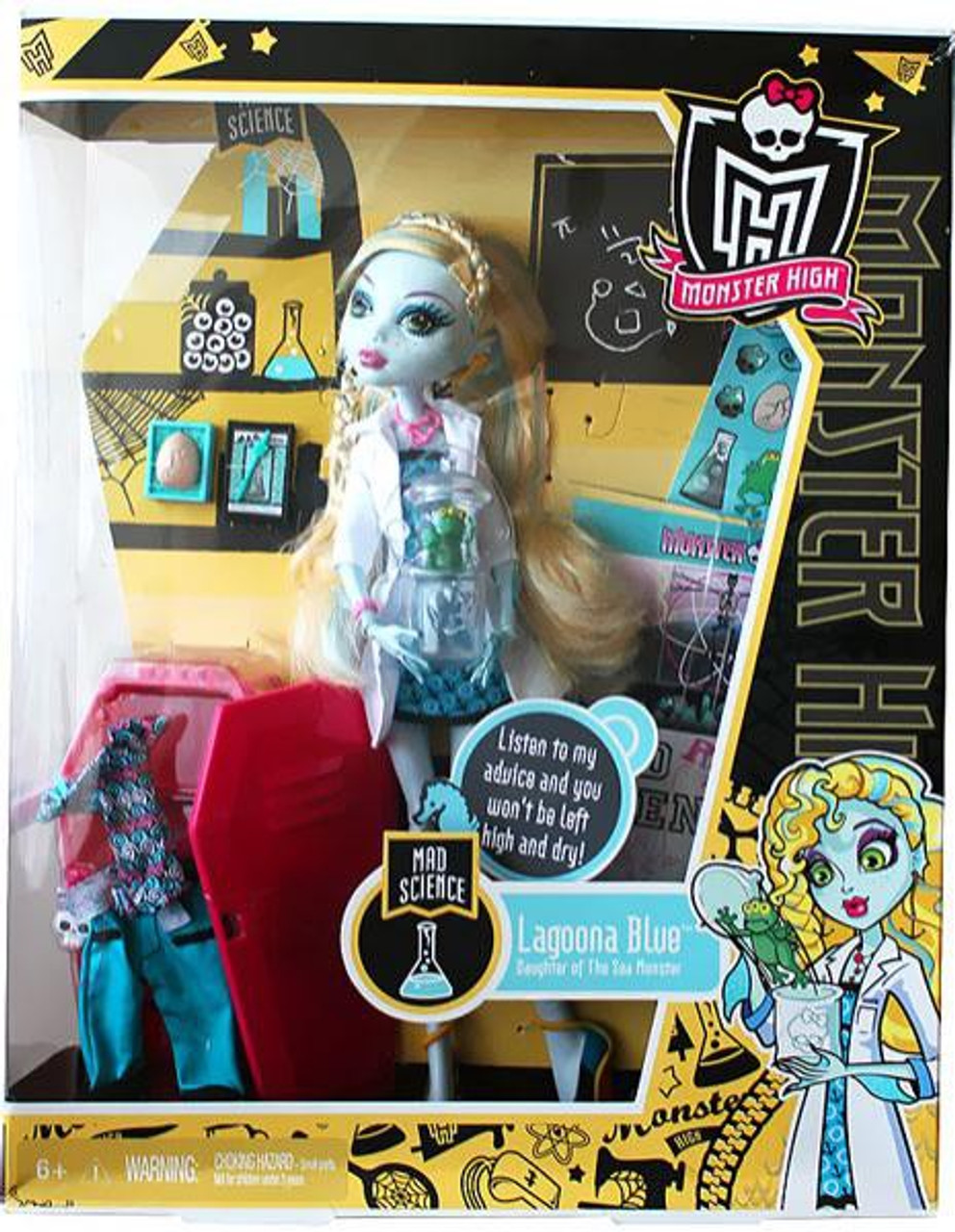 352e2e938c23 Monster High Classroom Mad Science Lagoona Blue 10.5 Doll With Locker  Mattel Toys - ToyWiz