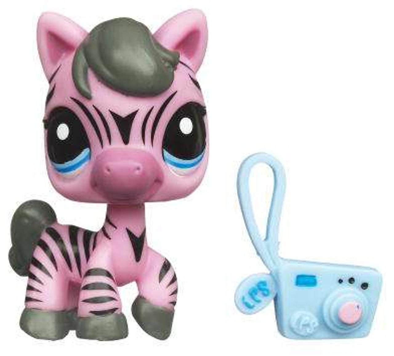 Littlest Pet Shop Pink Zebra Exclusive Figure 2078 Hasbro Toys Toywiz