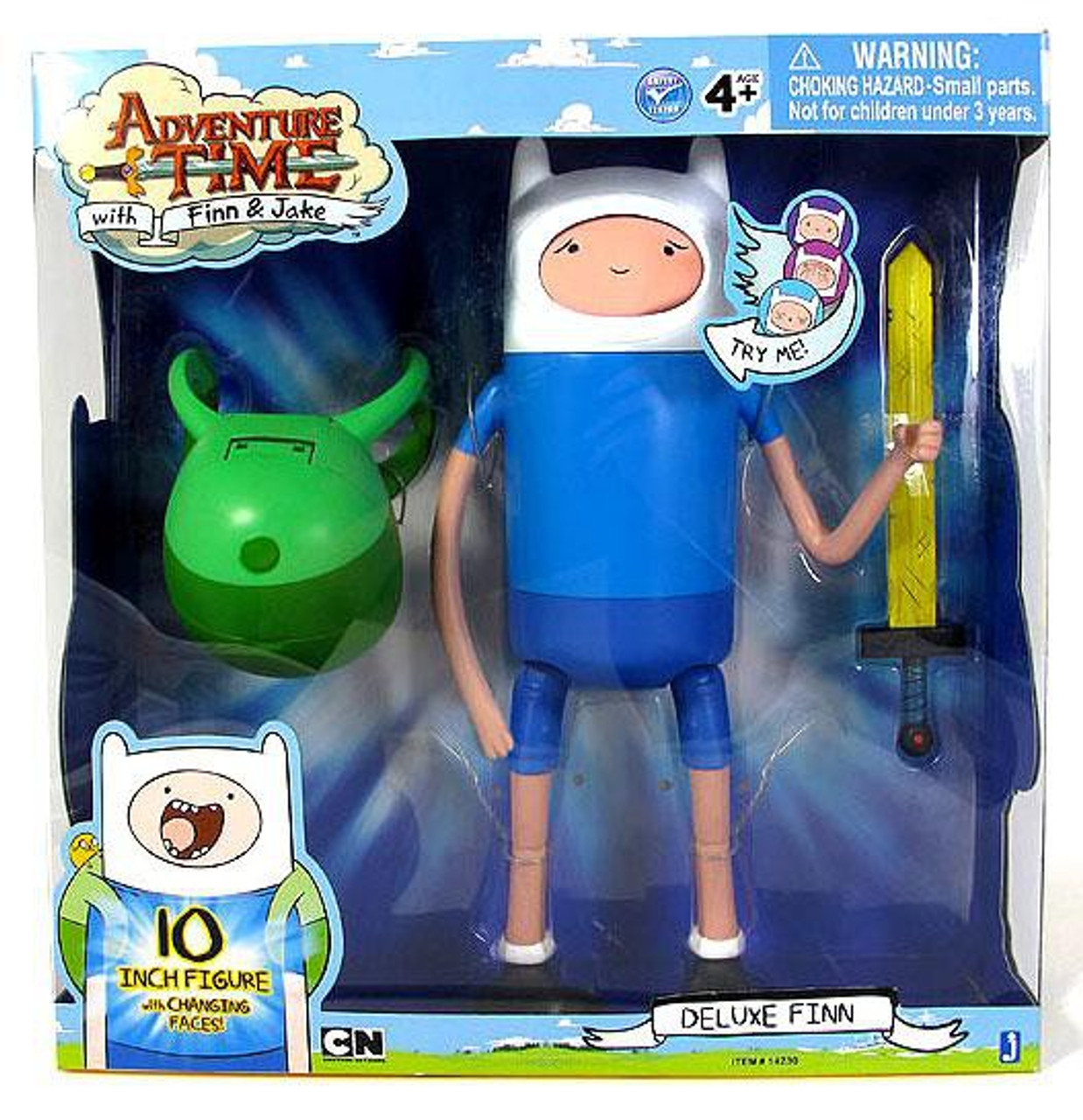 Adventure Time 10-Inch Jake with Changing Faces by Jazwares Action Figure