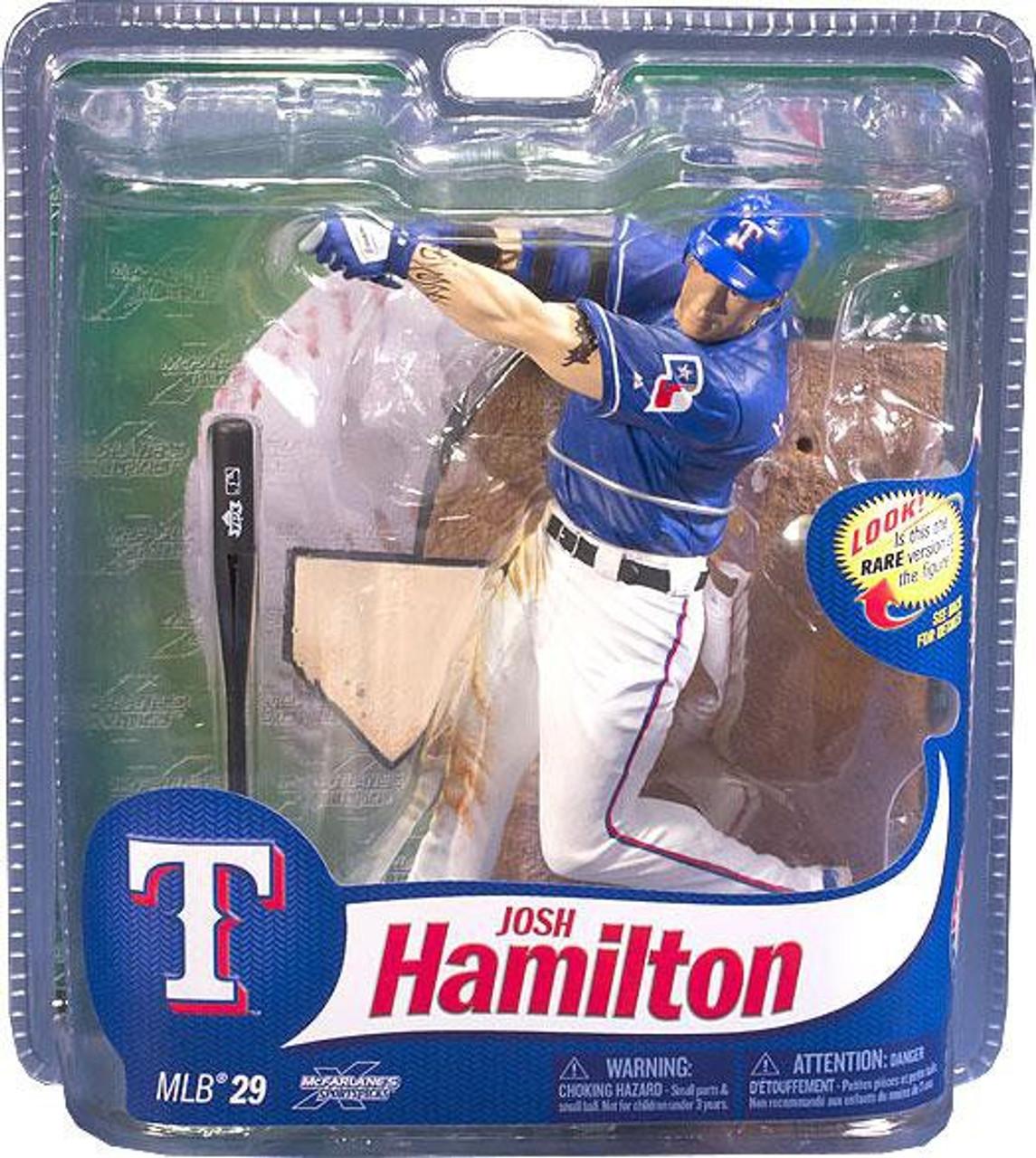low priced 0e2e6 b979f McFarlane Toys MLB Texas Rangers Sports Picks Series 29 Josh Hamilton  Action Figure [Blue Jersey]