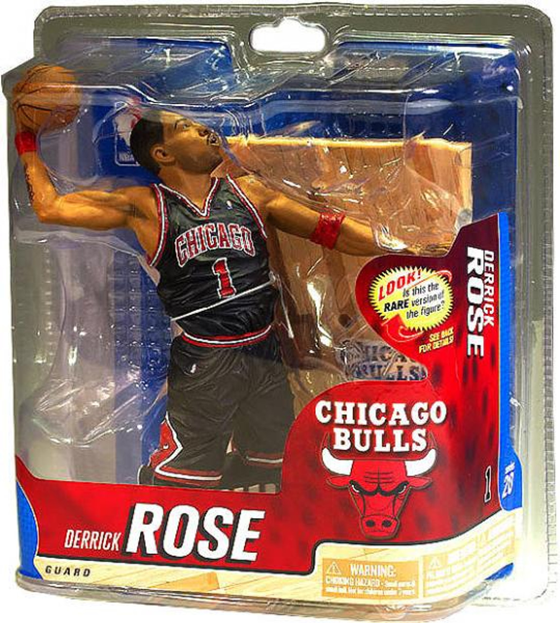 pretty nice a34cc 7e783 McFarlane Toys NBA Chicago Bulls Sports Picks Series 20 Derrick Rose Action  Figure [Black Jersey, Damaged Package]