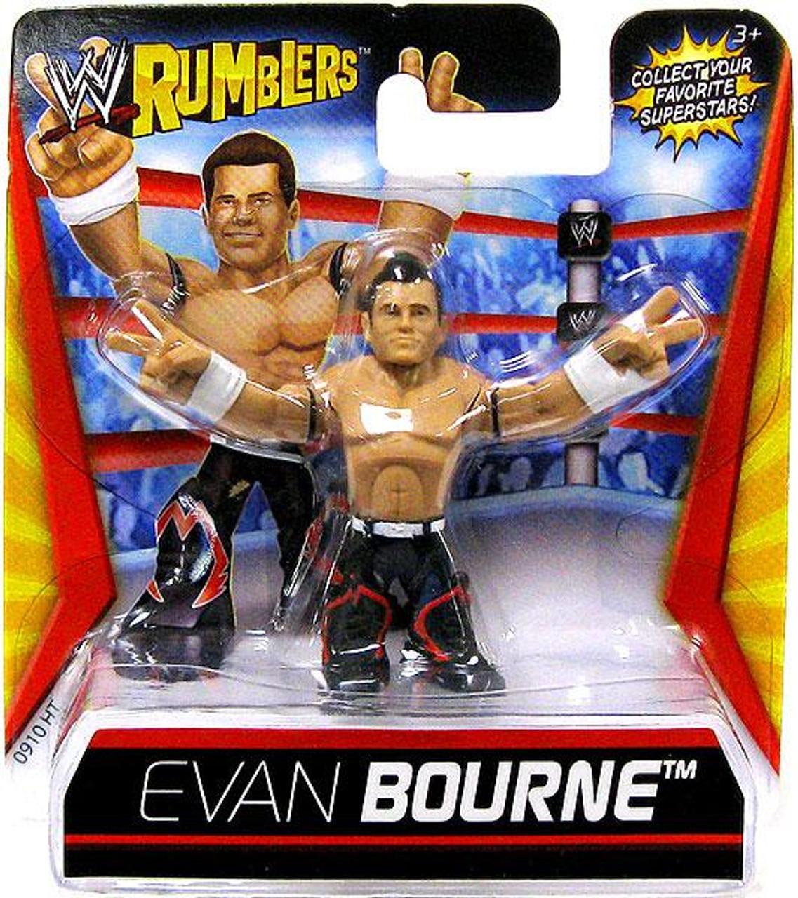 WWE RUMBLERS WRESTLING TITANTRON TOWER EVAN BOURNE ACTION FIGURE BIG MATTEL TOY