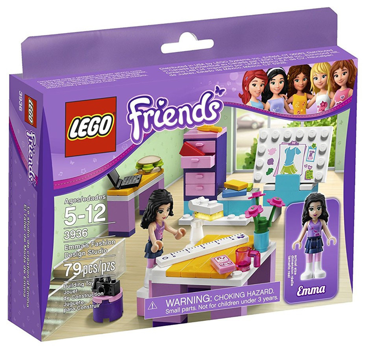 LEGO Friends Emmas Fashion Design Studio Set 3936 - ToyWiz
