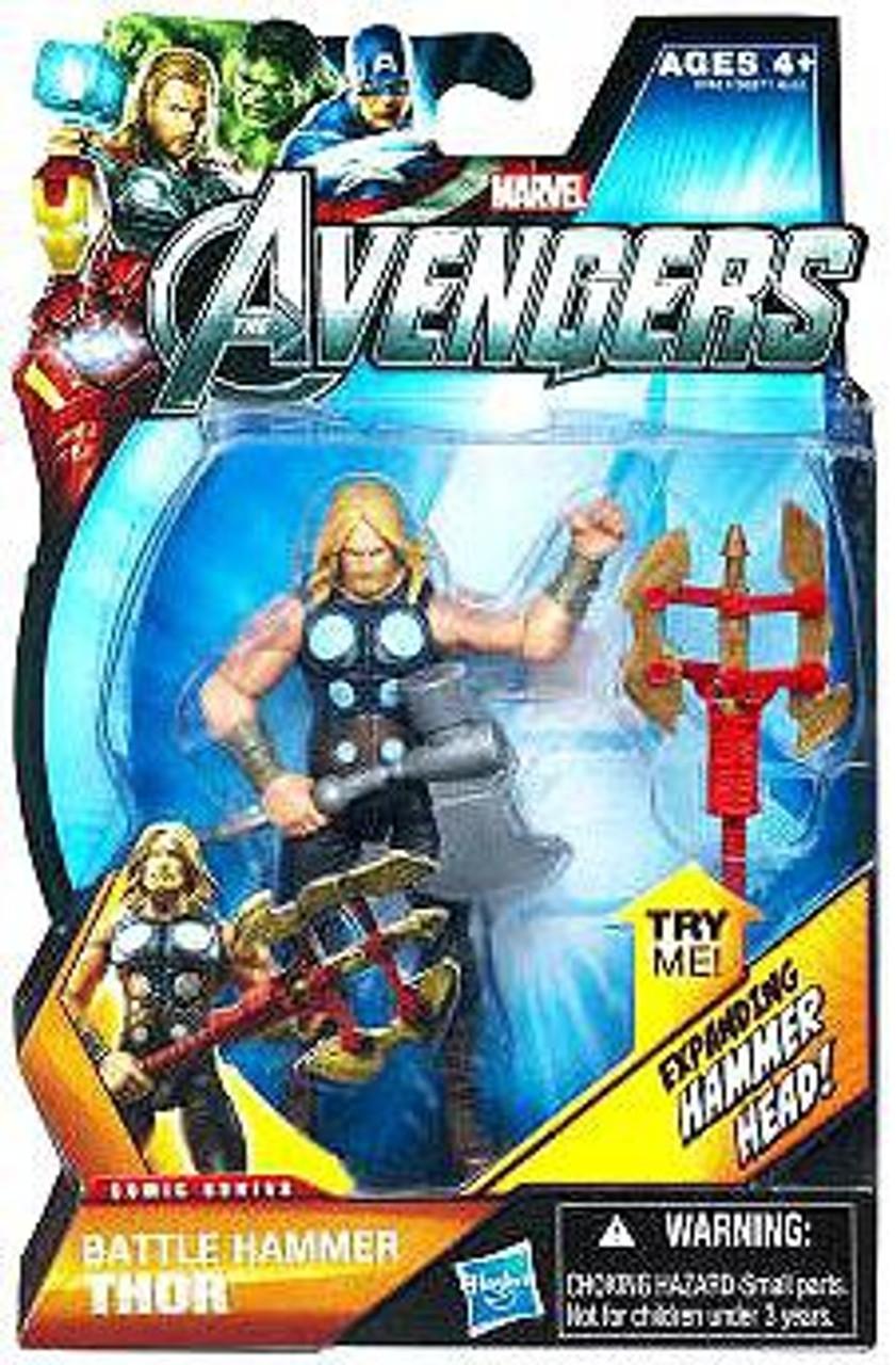 """Marvel Thor Avengers Assemble Battle Hammer Thor 4/"""" Action Figure"""