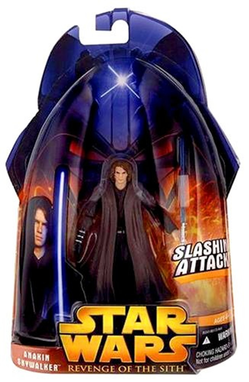 Star Wars Revenge Of The Sith 2005 Anakin Skywalker 3 75 Action Figure 28b Red Eyes Hasbro Toys Toywiz