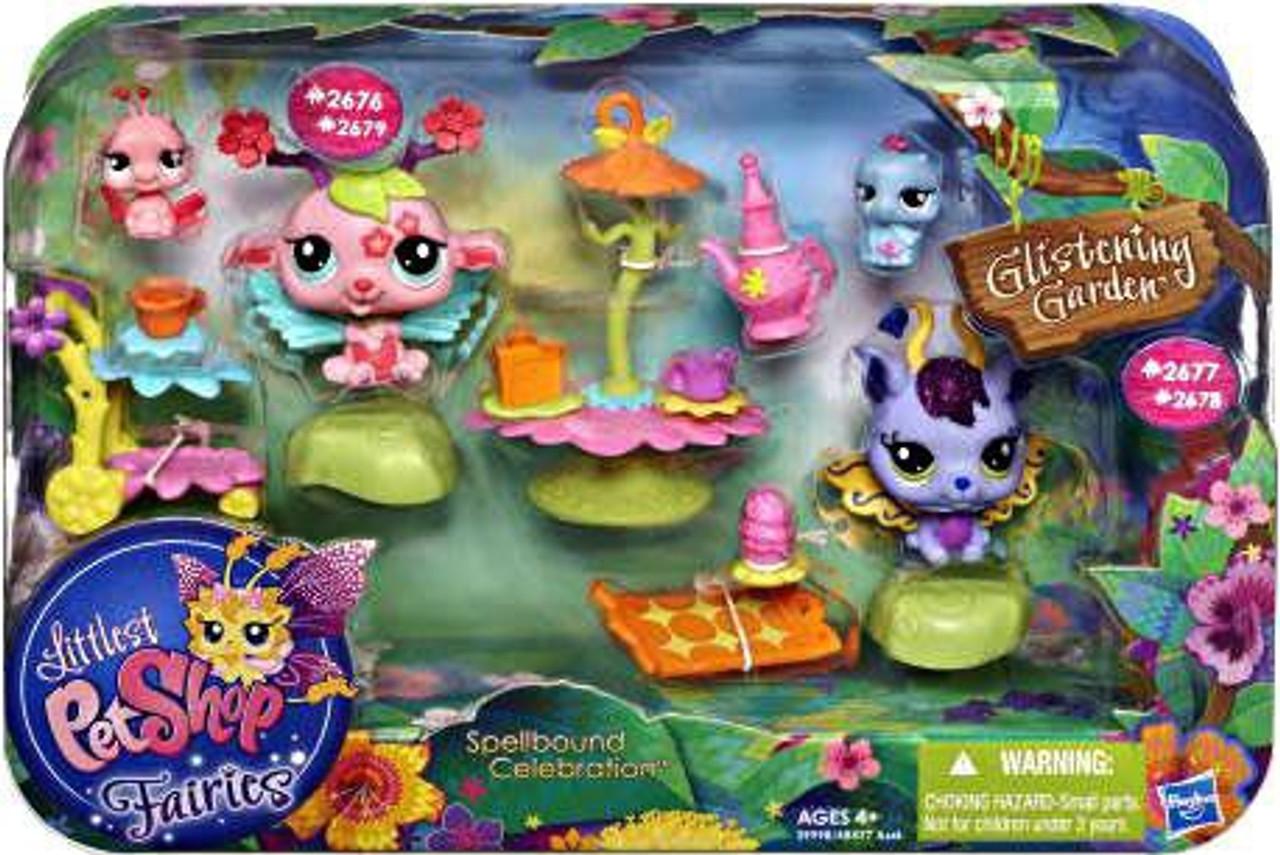 Littlest Pet Shop Fairies Glistening Garden Enchanted Figure Tulip Fairy with Lady Bug Hasbro