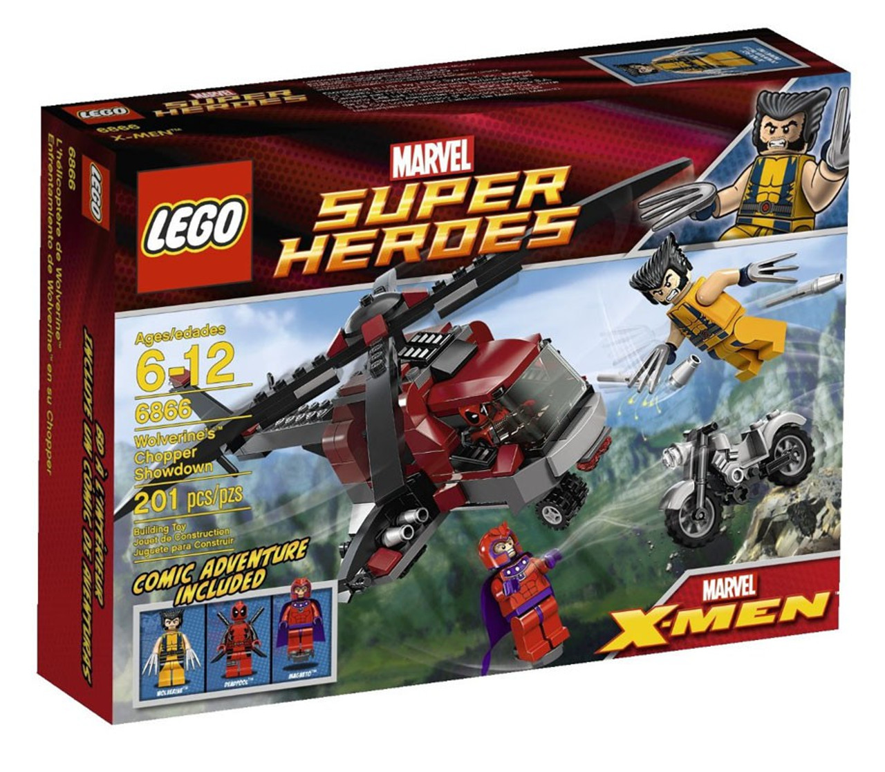 Lego Marvel Super Heroes X Men Wolverines Chopper Showdown Set 6866