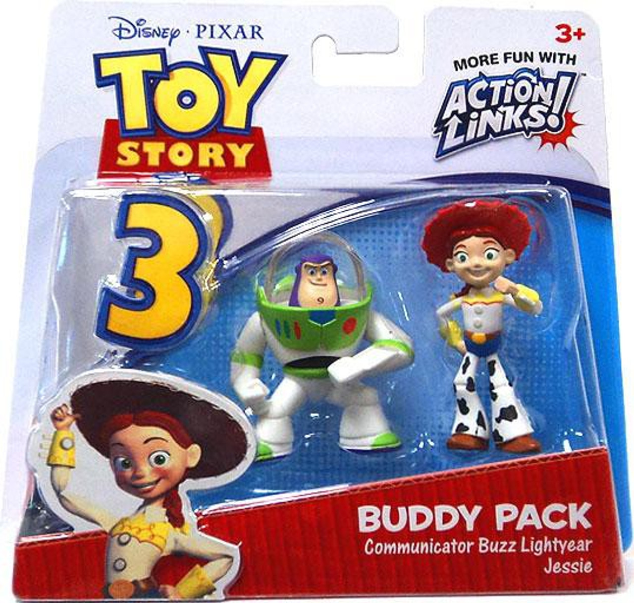 Toy Story 3 Action Links Buddy Pack Communicator Buzz Lightyear Jessie Mini  Figure 2-Pack Mattel Toys - ToyWiz 3984d7a8415