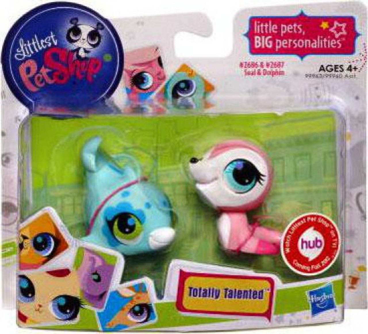 Littlest Pet Shop Totally Talented Pets Seal Dolphin Figure 2 Pack