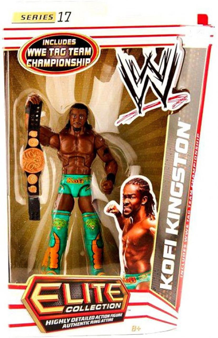 WWE Wrestling Elite Collection combat 27 Kofi Kingston Action Figure