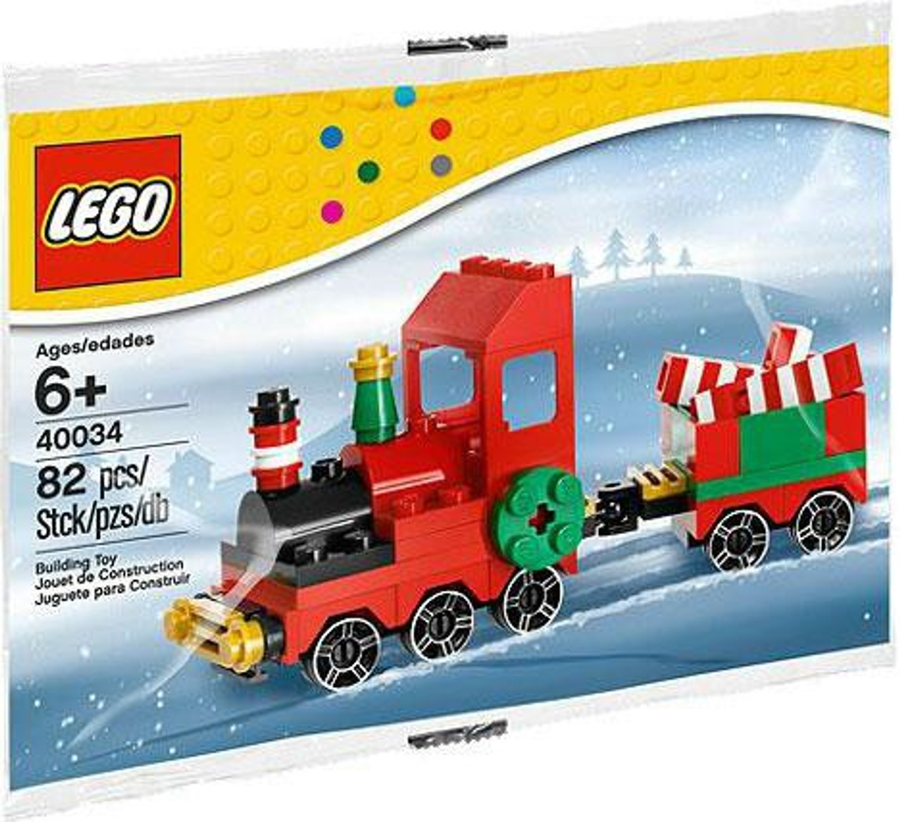 Lego Christmas Train.Lego Christmas Train Mini Set 40034 Bagged