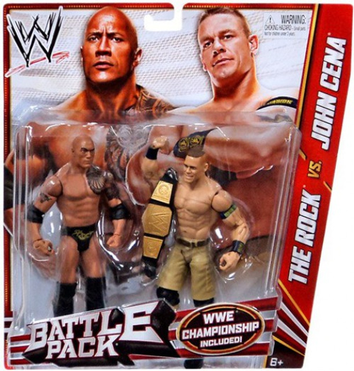 WWE Wrestling Battle Pack Series 24 The Rock vs  John Cena Action Figure  2-Pack [WWE Championship]