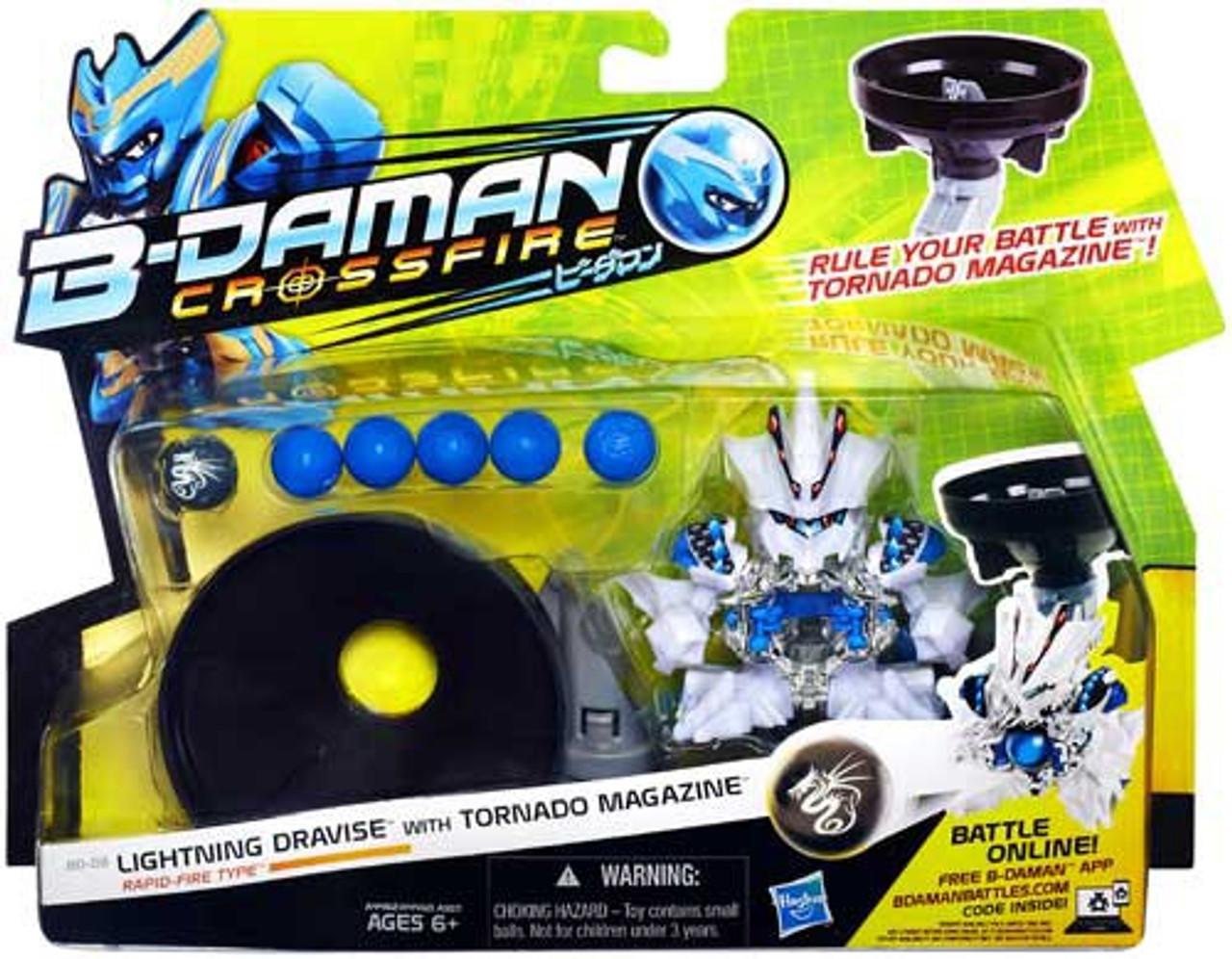 B-Daman Crossfire Lightning Dravise Figure BD-08 [Rapid-Fire Type]