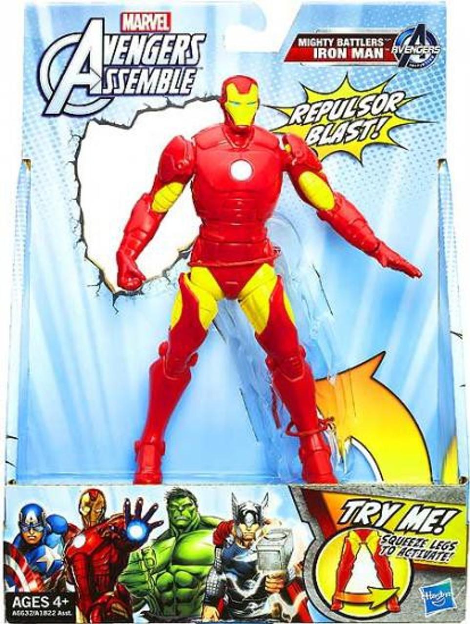ee95bc7036284e Marvel Avengers Assemble Mighty Battlers Iron Man Action Figure Hasbro Toys  - ToyWiz