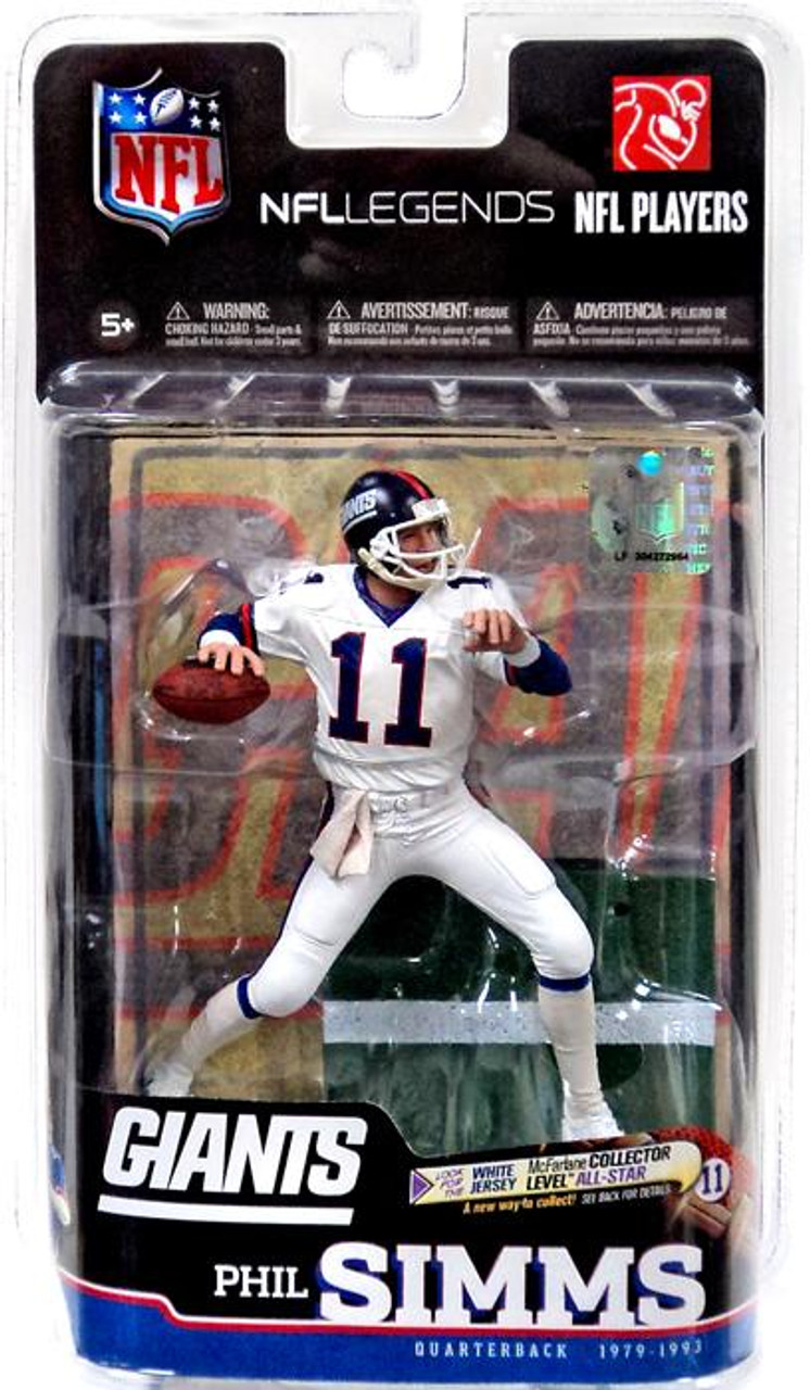 outlet store d6e64 229f2 McFarlane Toys NFL New York Giants Sports Picks Legends Series 6 Phil Simms  Action Figure [White Jersey]