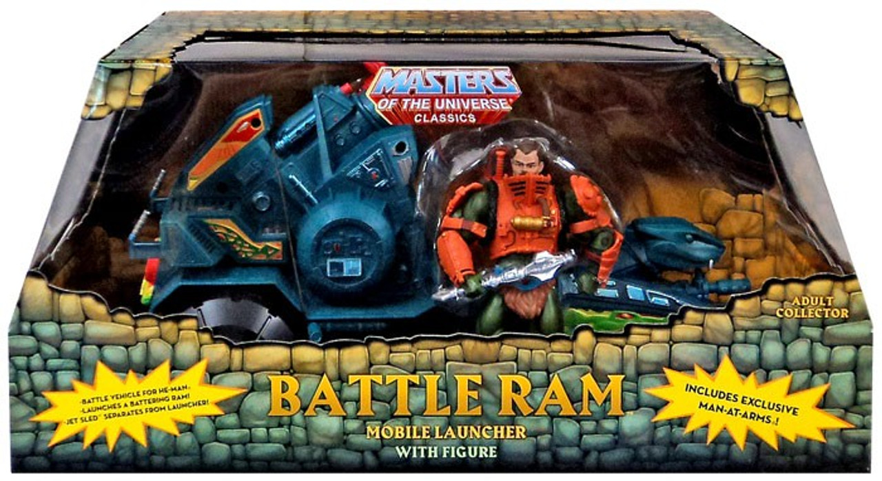 Masters of the Universe Classics Club Eternia Battle Ram & Man-At-Arms  Exclusive Action Figure Set
