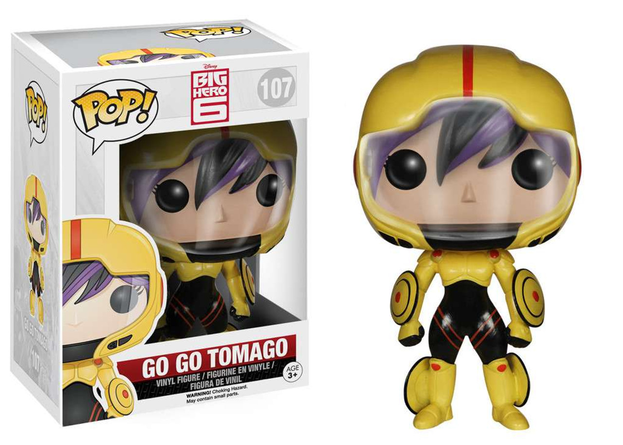 Baymax And Gogo big hero 6 funko pop! disney go go tomago vinyl figure #107