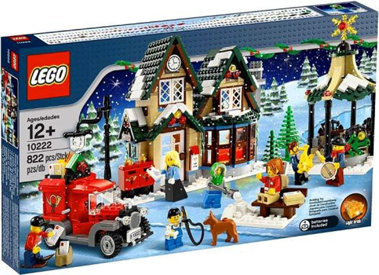 Christmas Set.Lego Christmas Winter Village Winter Village Post Office Exclusive Set 10222 Damaged Package