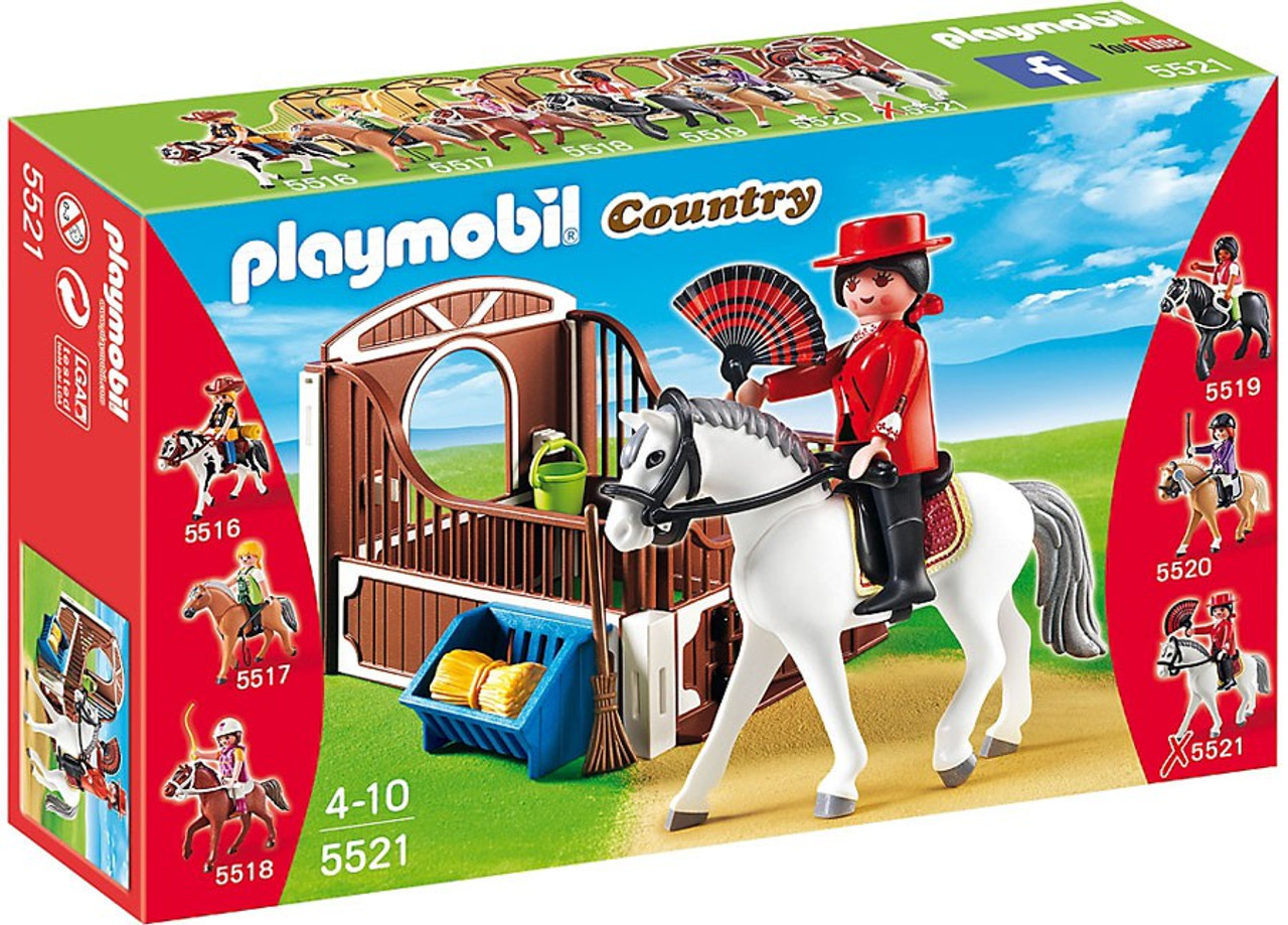 Lækker Playmobil Country Flamenco Horse with Stall Set 5521 - ToyWiz SK-52